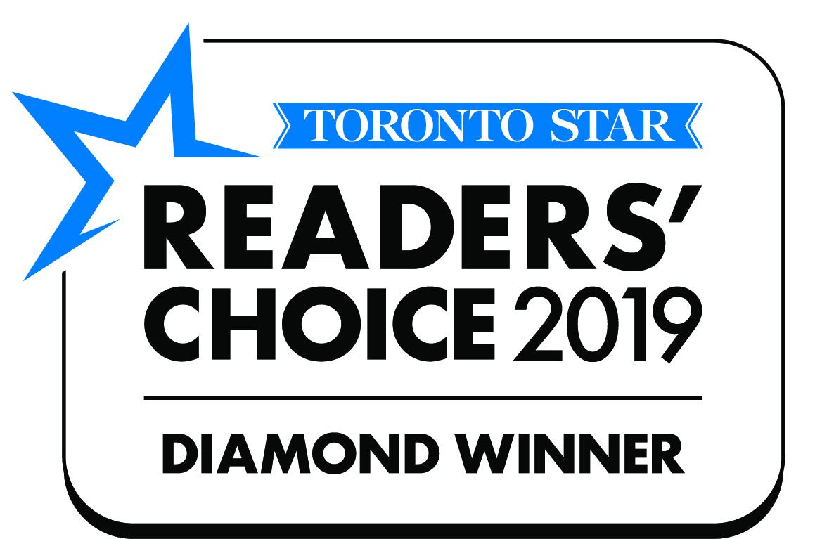Readers Choice Awards Diamond Award Logo- LawnSavers from Toronto Star